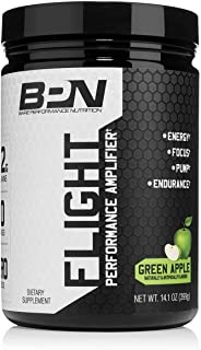 Bare Performance Nutrition, Flight Pre Workout, Energy, Focus & Endurance, Formulated with Caffeine Anhydrous, DiCaffeine Malate, N-Acetyl Tyrosine (30 Servings, Green Apple)