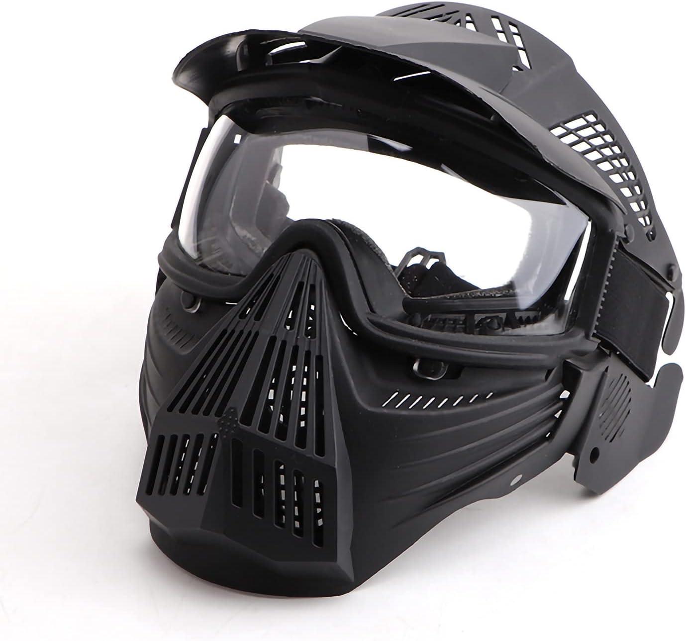 Máscara de airsoft, máscara completa de protección con visera para Halloween, máscara táctica para juegos de fiesta, cosplay, ciclismo, decoración para adultos y jóvenes
