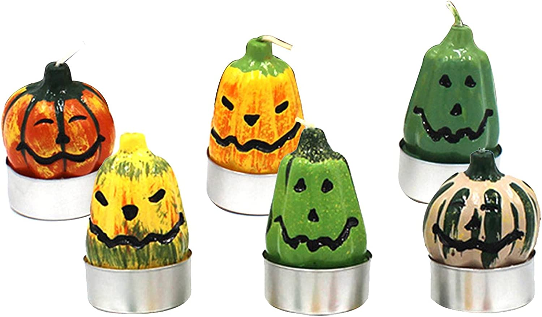 Williamly Virginia Beach Mall Set of 6 Halloween Shaped Financial sales sale Para Candle Pumpkin