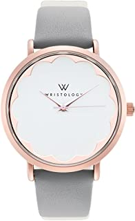 Olivia - 4 Options - Womens Scallop Rose Gold Watch