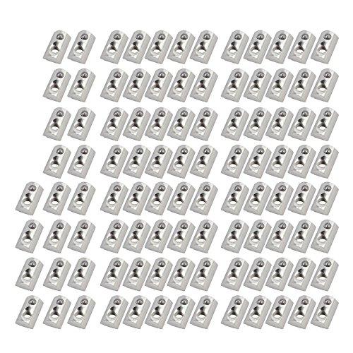 100× Aluprofil Profil Nutensteine Kugel Nut 8 Schrauben Gewinde M6 für 3030 3060