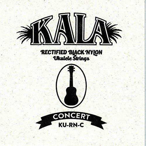 Kala KU-RN-C - Cuerdas para ukelele (nailon, alta densidad), color negro