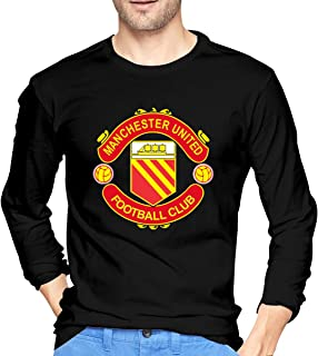 Manchester United F.C Men's 100% Cotton Long Sleeve Tee