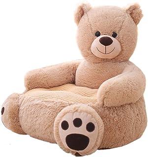 Kaliya Plush Kids Elephant Sofa Seat Silla para niños Sillón Animal Cómodo sofá Seat (Bear)