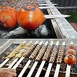 Onesex Pinchos de Barbacoa Grande/Barbacoa de Metal Barbacoa Pinchos al Aire Libre Barbacoa Tira manija para Barbacoa Multi-tamaño / 10-60 cm * 2mm * 2mm Establecido 10
