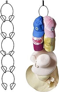 Artliving 5 Pack Door & Wall Mounted Hat Rack Cap Rack Baseball Cap Towel Rack Holder Organizer for Baseball, Caps,Scarfs,Handbag,Towels Closet (Door Hooks and Sticky Hooks Includes)