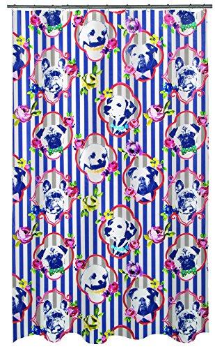 Spirella Anti-Schimmel Duschvorhang H&e Superman Anti-Bakteriell, waschbar, wasserdicht PEVA 180x200cm Braun Bunt Weiß