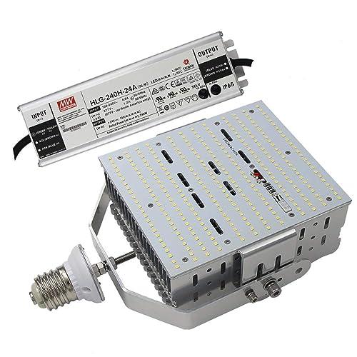 AC100~277V 150W Shoebox Light Retrofit Parking Lot Replace 500W Metal Halide 6000K Daylight E39