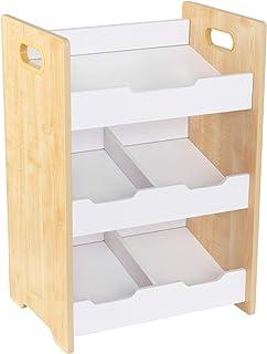 KidKraft 15766 ordning ordning hylla av trä med fack för förvaring av barnleksaker i vita och naturliga färger - barnkamma...