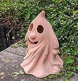 Halloween- Gespenst 28 cm hoch aus Terracotta, Deko Garten Figur Gespenst Geist Landhaus Terrakotta