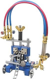 Hanchen Manual Pipe Cutting Beveling Machine Torch Track Cutter 6~50mm Torch Track Gas Cutter Beveler Cutting Machine Pipe Cutter Tool(Acetylene + Oxygen)