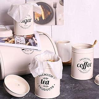 Pot De Stockage Conteneur 3 Pièces/Ensemble Café Thé Sucre Boîte De Rangement Pot D'Épices Bonbons avec Couvercle Cuisine ...