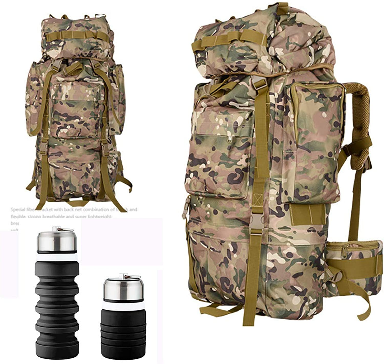 MZTYX De Outdoor Wasserdichte Wandertasche, Groauflader Sporttasche 85L+5L personalisierte Praxistauchcamping-Tasche