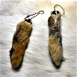 Rabbit Foot Keychain-Natural