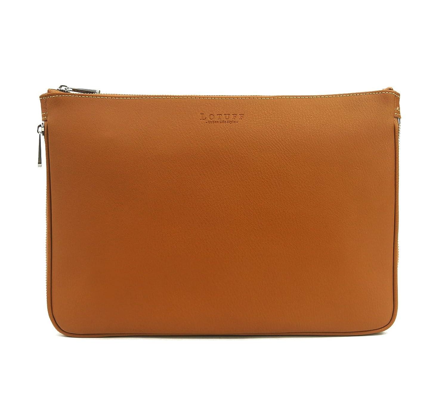 シェアピクニックやさしくLOTUFF(ロトプ) 6 Color シンプルクラッチバッグクロスバッグレザーバッグレディースLO-3128 メンズ レディース Leather Cross Bag Clutch Bag Shoulder Bag [並行輸入品]