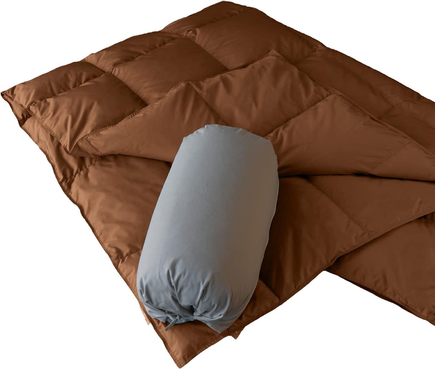 Atlanta store Mall zZFocus Goose Down Blanket Fluffy Port Compact Warm Lightweight