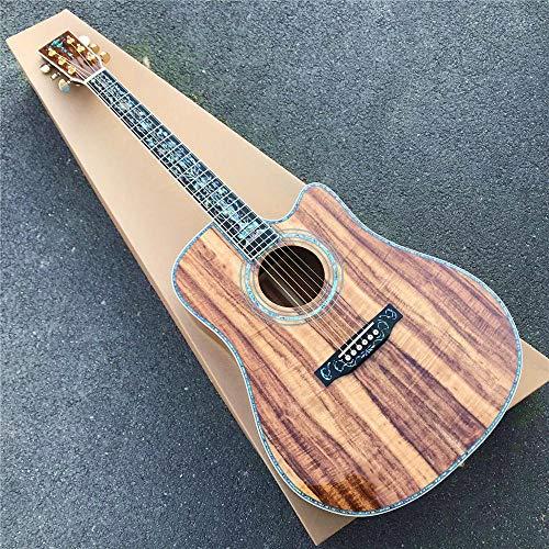 Gitarre 41 Zoll Cutaway Koa Holz Akustikgitarre Rea Inlays Ebony Griffbrett Koa Gitarre Akustik