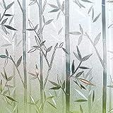 LMKJ Pellicola di Vetro con Motivo in bambù, Pellicola Trasparente, Controllo del Calore, Pellicola Domestica Cinese Durevole e Mobile A159 40x100cm
