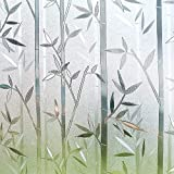 Película de Ventana de preservación estática Protección de privacidad de bambú Lámina de Vidrio Decorativa Reutilizable para película de Ventana doméstica A43 45x100cm