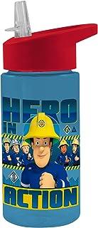 Feuerwehrmann Sam transparente Trinkflasche mit Strohhalm, 4