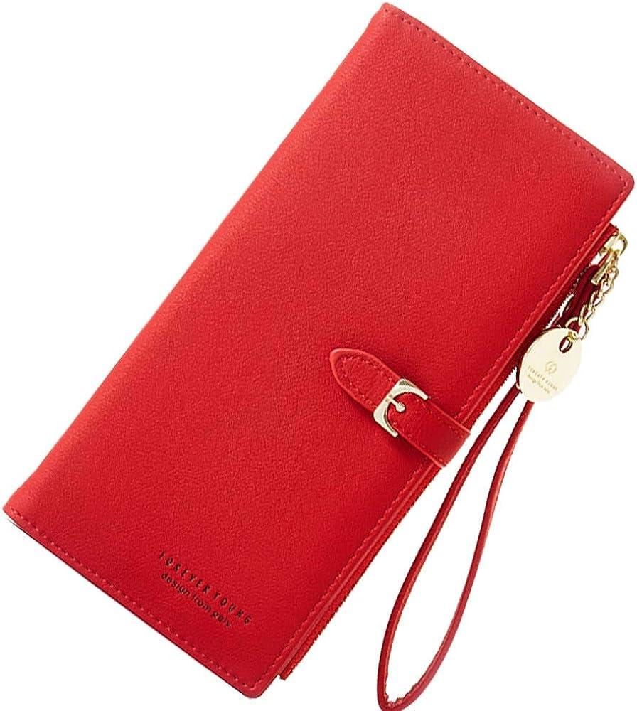 Copay, elegante portafoglio da donna, porta carte di credito, custodia per cellulare, in pelle sintetica COOPAYQT0450