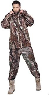 Image of LXYFMS Camouflage Clothing Outdoor Training Running Sports Hiking Hunting Men's Windproof Waterproof Fashion Jacket and Camouflage Pants Camouflage Suit (Size : XL)