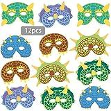 Sunshine smile Dinosaurier Masken für Kinder,Dino Masken Kindergeburtstag,Dinosaurier...