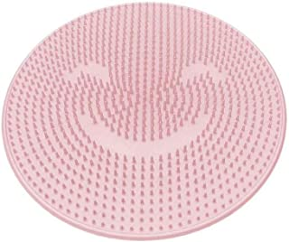 Silicone Bath Mats Shower Tub Mat Foot Reflexology Pad Foot Massager Foot Scrubber Tool for Bathroom (Pink)