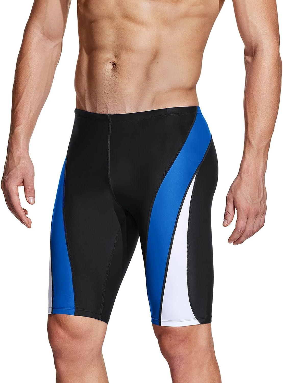 TSLA National uniform free shipping Men's Swim Jammers Athletic Trunks Shorts Swimming Racing Sale price