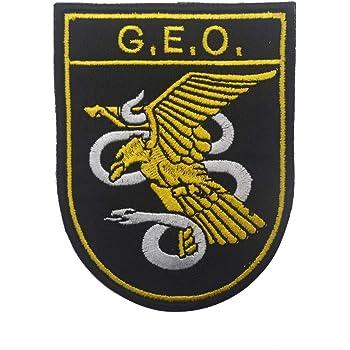 Parche de policía nacional táctico militar bordado Morale coser en emblema Patch Applique para chamarra Gear Cap Hat Mochila Spain: Amazon.es: Hogar