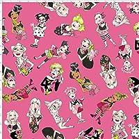 Loralie Designs Salon lookers 45cmx54cm:ロラライハリス USAコットン (Pink)