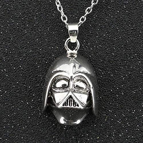 GLLFC Halskette für Frauen Halskette Männer Darth Vader Dark Lord Halskette Helm...