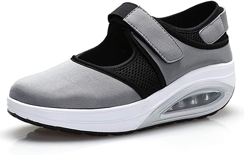 August Jim New Womens Fashion Sneakerd,Fabric Mesh Patchwork Casual Flat Platform shoes