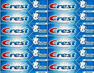 Doce paquetes de Crest Decay Prevención Pasta de dientes