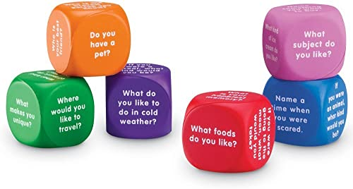 Learning Resources Conversation Cubes, Social Dice, Autism Therapy, Ice Breaker Cubes, Foam Cubes, 6 Pieces, Ages 6+