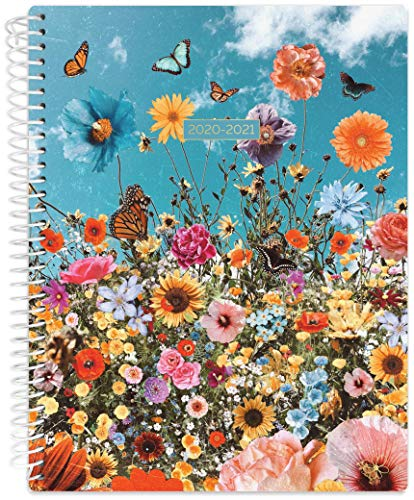"""Daisy by bloom daily planners 2020-2021 Academic Year Student Day Planner (July 2020 - July 2021) - Elementary Through Middle School Calendar Agenda Book - 7"""" x 9' - Wildflowers"""