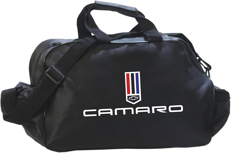 Camaro Black Logo Duffle Travel Sport Gym Bag Backpack