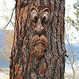 Nicejoy Alter Mann Baum-Gesicht Baumgesichter Wandtattoo Baum GäRten Peeker Skulptur Baumgesicht Freien Stamm HäNgende Dekoration Baumstamm Hugger Für Outdoor Halloween Ostern Weihnachten Wetterfest