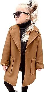 Toddler Baby Girls Long Wool Coat Jacket Winter Windproof Warm Trench Outwear