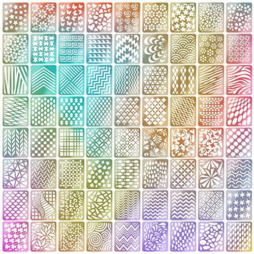 Stencil Ongles Nail Art Stickers Set Designs Cute Nail Art Ongles Stencil Feuilles,24 Feuilles 72 Différents Styles, 144 Pièces