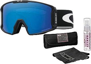 Oakley Line Miner Snow Goggle (Matte Black Frame/Prizm Sapphire Iridium Lens) with Lens Cleaning Kit
