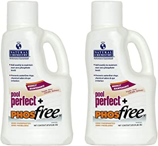 2) NEW Natural Chemistry 05235 Spa Swimming Pool Perfect Plus PHOSfree - 2L Each