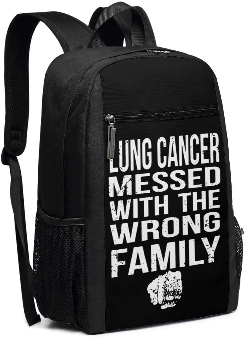 Lung Cancer Awareness 17 Inch Laptop with Large Compartment Travel Computer Backpack Bag for Women /& Men Black