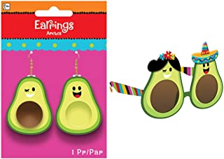 Fiesta Cinco de Mayo Party Wearables - Avocado Fun Shades and Earrings Set