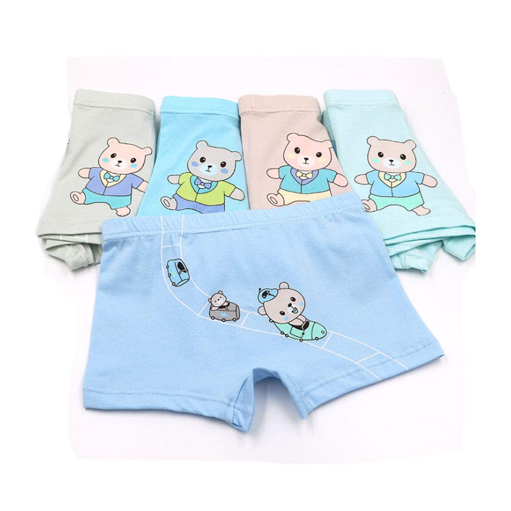 Boys Cotton Boxer Shorts Kids Stretchy Trunks Underwear with Playful Patterns Age 2-10