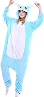 Venaster Pyjamas Herren Blau Hase Erwachsene Unisex Animal Cosplay Overall Pajamas Anime Schlafanzug Jumpsuits Spielanzug ...