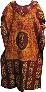 Indian Cotton Batik Bohemian Long Caftan/Kaftan Dress