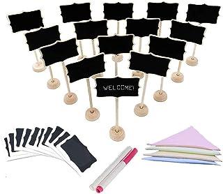 Mini lavagna, 36 pezzi Cartellini segnaposto per segnaposto in legnoper i matrimoni, parti,Numeri da tavolo,Memo, Etich...