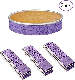 Set of 3 Bake Even Cake Strips,Cake Pan Dampen Strips,Super Absorbent Thick Cotton,Cake Strips for Baking,Cake Pan Strips