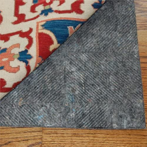 Durahold Ranking TOP3 5'x10' Plus Felt and Natural Rug Fl Pad Tulsa Mall Rubber for Hard